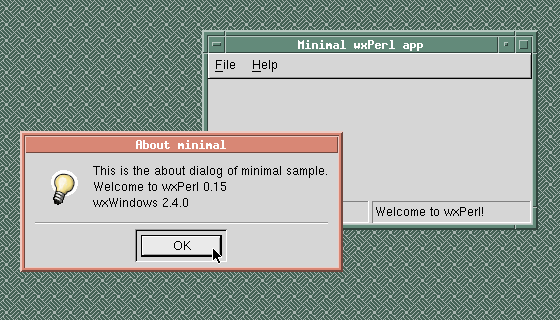 Minimal sample (Solaris, GTK 1.2); courtesy of Valentin Guignon